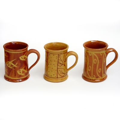 Mugs poterie vernissée - Fabrication artisanale